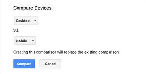 Top Mobile SEO: Google Search Console - Desktop vs Mobile