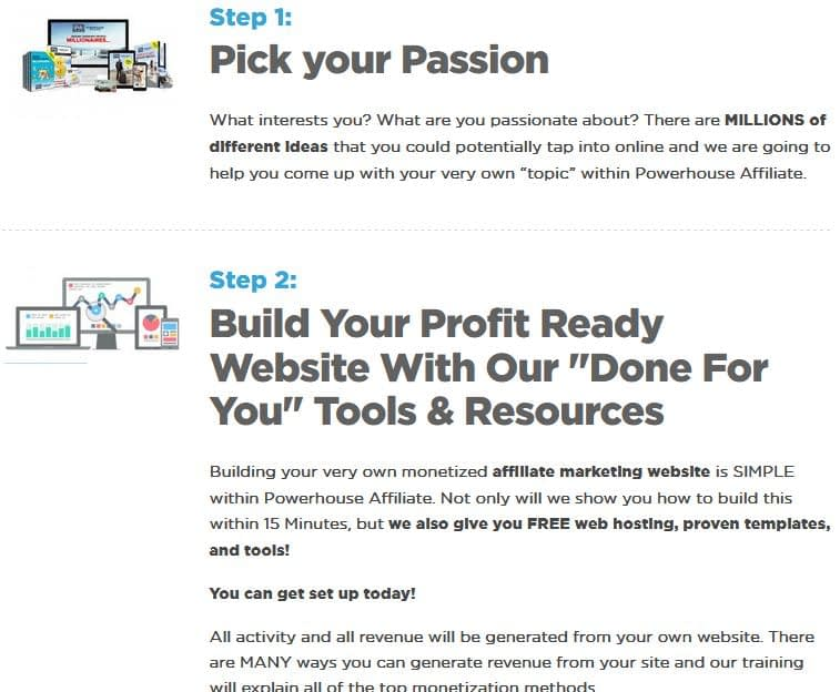 Powerhouse Affiliate - Choose your passion