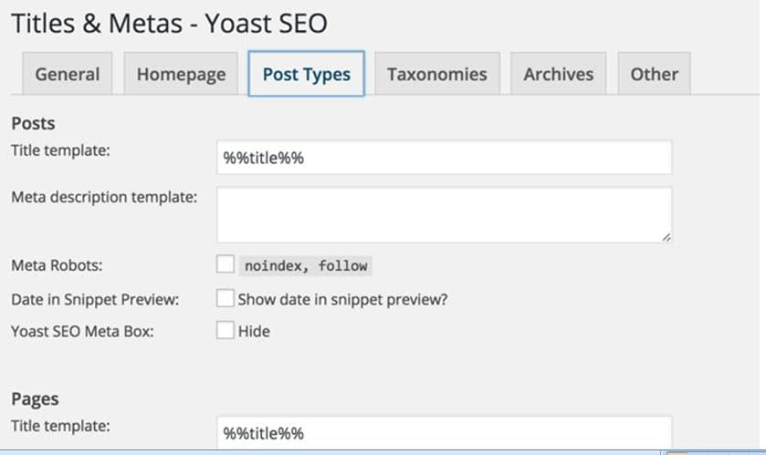 WordPress Post Types