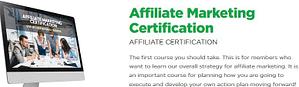 Affiliate marketing certification