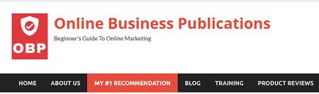 Online Business Publications Main Menu